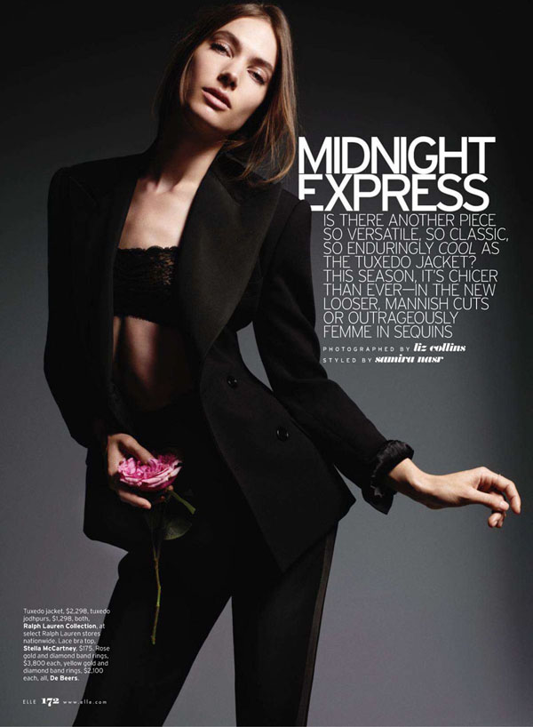 b48c8aecc45 Le Smoking: Jessica Miller for Elle US July 2011 {Homage: YSL ...
