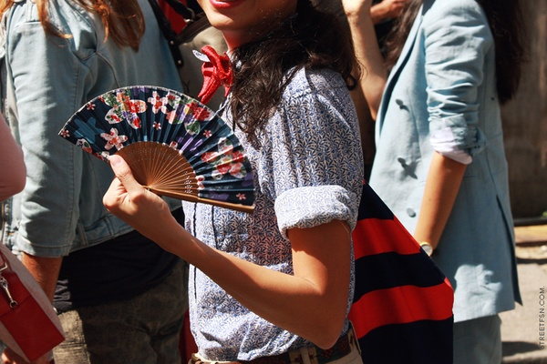 Image result for hand fan street style