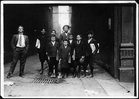 Nashville Newsies, 1910.