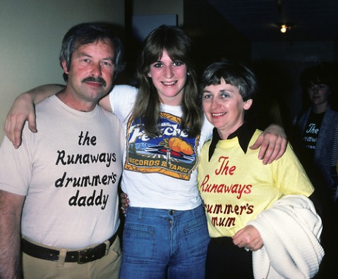 Sandy West and parents.