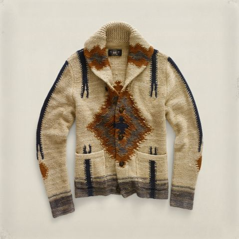 RRL & Co serape shawl collar cardigan