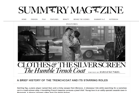 Trench Coat - Summary Mag